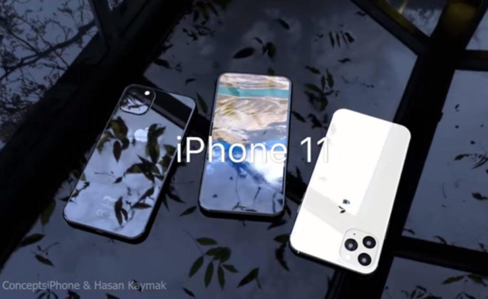 Concept 3D iPhone 11 1000x613 iPhone 11 : un concept nous montre le rendu final en 3D