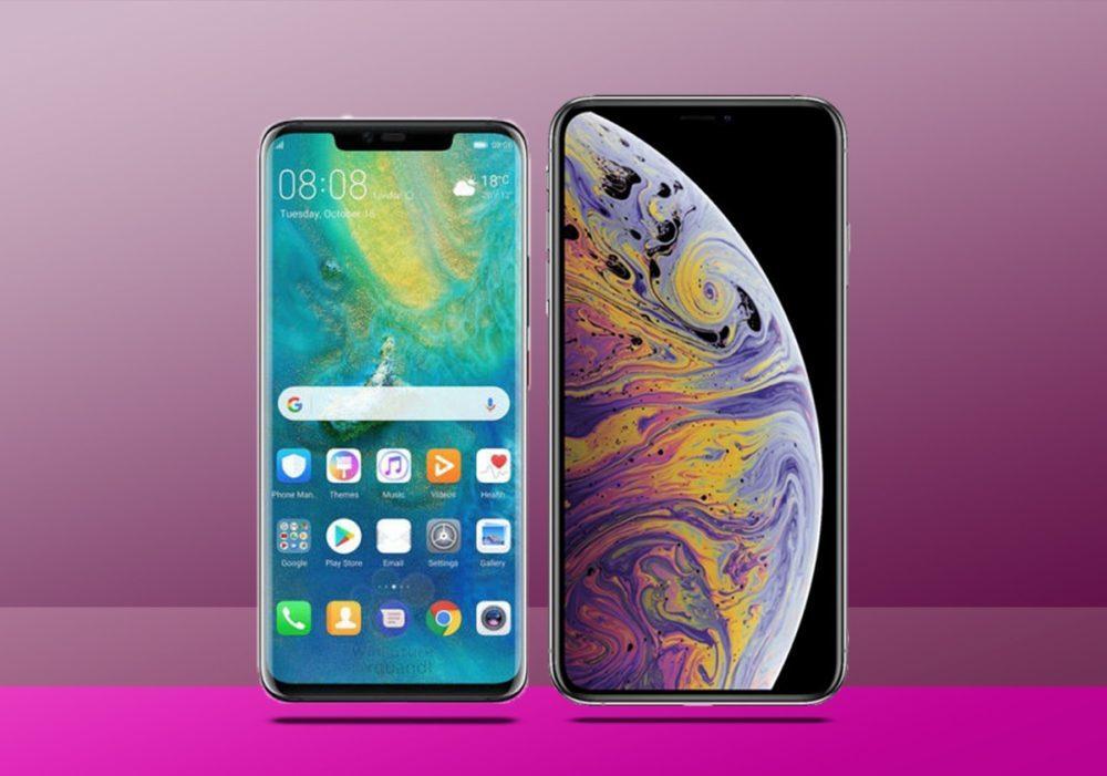 Huawei P30 Pro iPhone XS Max 1000x701 Les ventes diPhone sont en recul au Q2 2019, Huawei devient encore le 2e vendeur de smartphones
