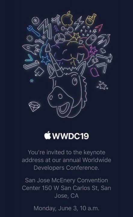 Invitation Apple Keynote WWDC 2019 WWDC 2019 : Apple confirme la date de la keynote du 3 au 7 juin