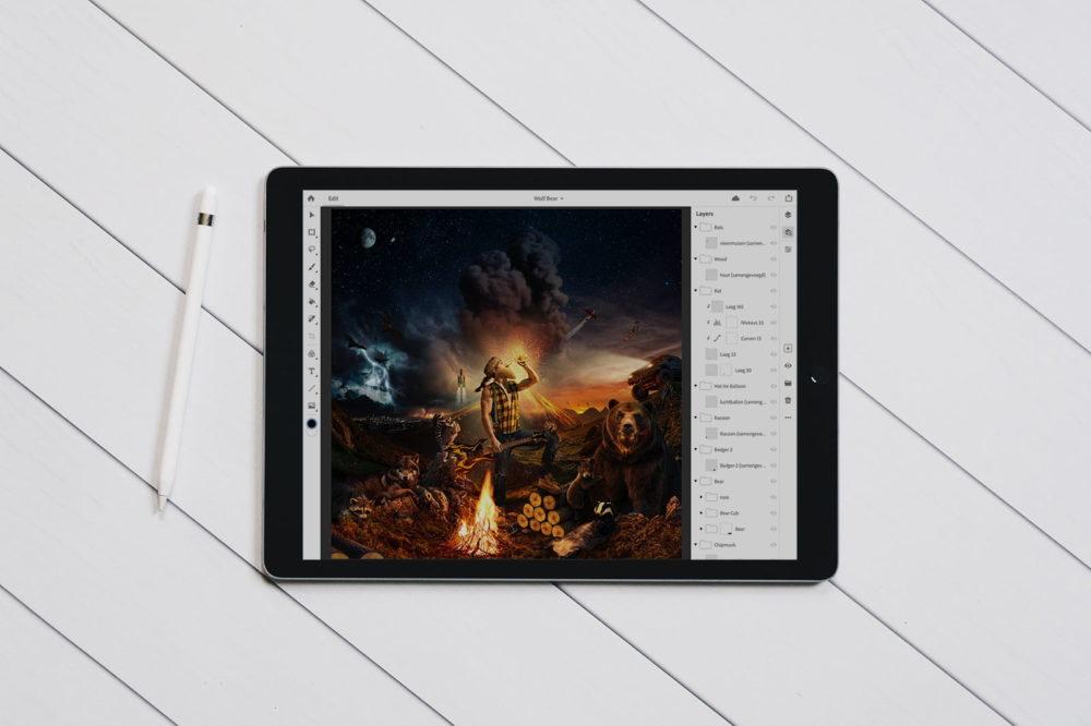 Photoshop Sur iPad 1000x666 La première bêta de Photoshop sur iPad serait disponible le 9 mai
