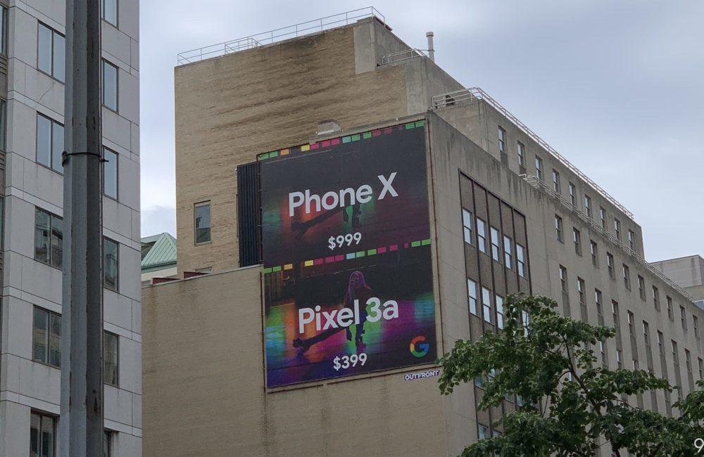 Pixel 3a vs iPhone Publicite 1000x650 Avec son Pixel 3a, Google tacle liPhone XS pour son prix et les photos prises la nuit