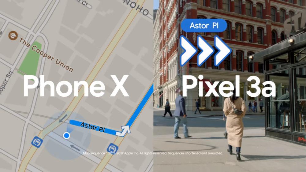 Pub Google Maps VS Plans 1000x562 Google compare Google Maps et Plans dApple dans une nouvelle vidéo