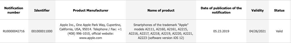 References iPhone 2019 ECC iPhone de 2019 : des références sont apparues dans la base de données de lEEC