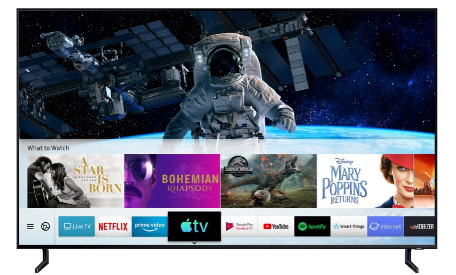 Samsung Apple TV Airplay 2 Lapplication TV dApple et AirPlay 2 sont disponibles sur les TV Samsung
