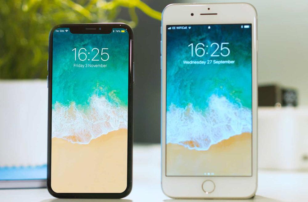iPhone 8 Plus iPhone X 1000x656 Ventes diPhone : une chute de 12% pour lannée 2019