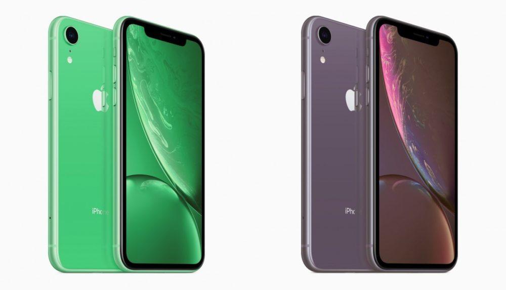 iPhone XR 2019 Vert Lavande 1000x573 Des rendus présentent les coloris vert et lavande des iPhone XR 2019