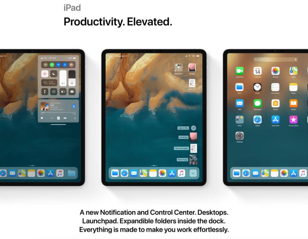 ios 13 concept ipad 1000x777 iOS 13 : un concept rassemble les fonctionnalités quApple pourrait dévoile à la WWDC