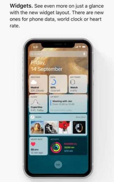 ios 13 concept widgets iOS 13 : un concept rassemble les fonctionnalités quApple pourrait dévoile à la WWDC
