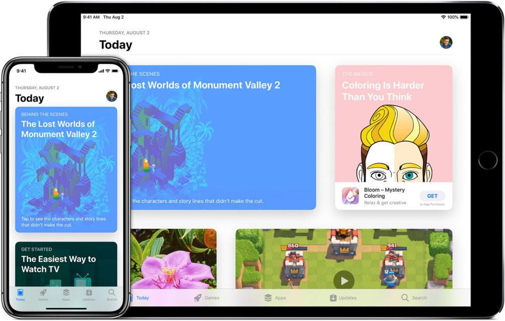 ios12 iphone x ipad pro app store 1000x635 App Store : les prix seront augmentés au Brésil, en Colombie, en Inde, en Indonésie, en Russie et en Afrique du Sud