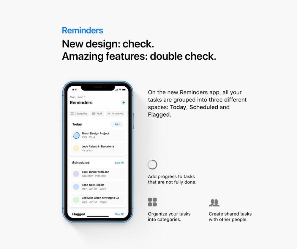reminders ios 13 concept 1000x839 iOS 13 : un concept rassemble les fonctionnalités quApple pourrait dévoile à la WWDC
