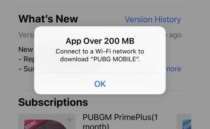 App Store Cellulaires Limites App Store : la limite de téléchargement en cellulaire augmentée, elle passe de 150 à 200 Mo