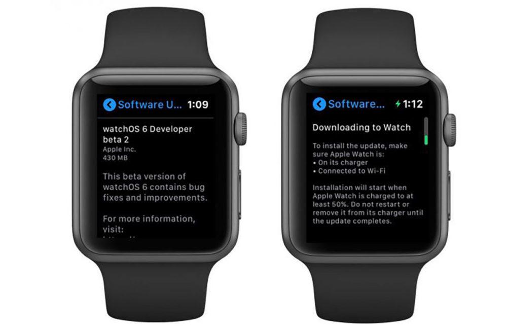 Apple Watch watchOS 6 Mises a Jour OTA 1000x659 Apple Watch : bientôt possible de faire les mises à jour depuis la montre
