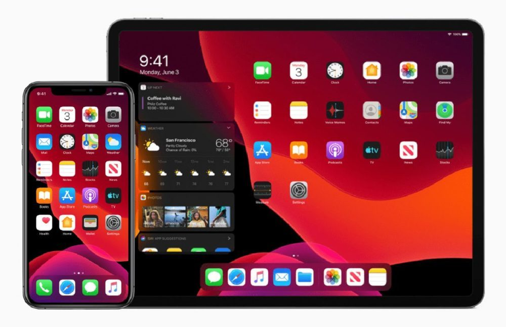 Apple iOS 13 iPadOS 13 1000x647 iOS 13 bêta 2 est disponible (avec le support du profil dinstallation)