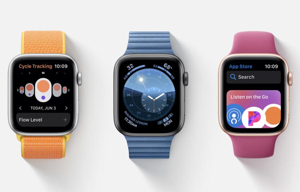 WWDC 2019 watchOS 6 1000x640 Apple publie watchOS 6.1.3 et watchOS 5.3.5 : des correctifs et améliorations sont proposés