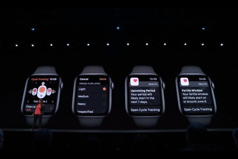 WWDC 2019 watchOS 6 Cycles mensuel 1000x667 WWDC 2019 : watchOS 6 débarque avec un App Store dédié, de nouveaux cadrans et complications