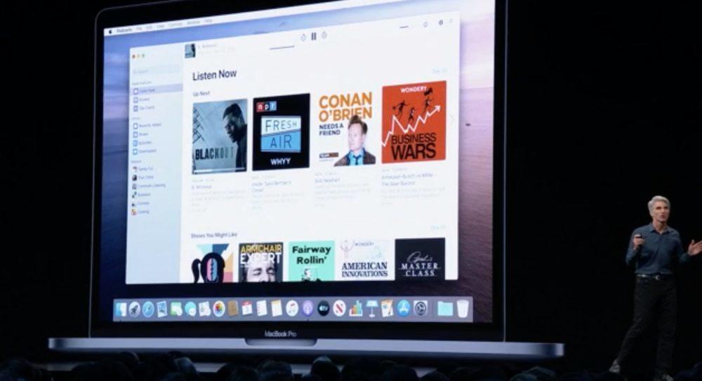 WWDC macOS Catalina Podcasts 1000x544 WWDC 2019 : macOS Catalina 10.15 annoncé ; adieu iTunes, arrivée de Musique, Podcasts, TV, Find My