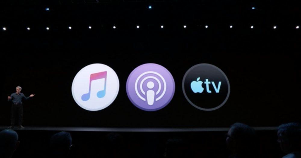 WWWDC macOS Catalina 3 Apps 1000x526 WWDC 2019 : macOS Catalina 10.15 annoncé ; adieu iTunes, arrivée de Musique, Podcasts, TV, Find My
