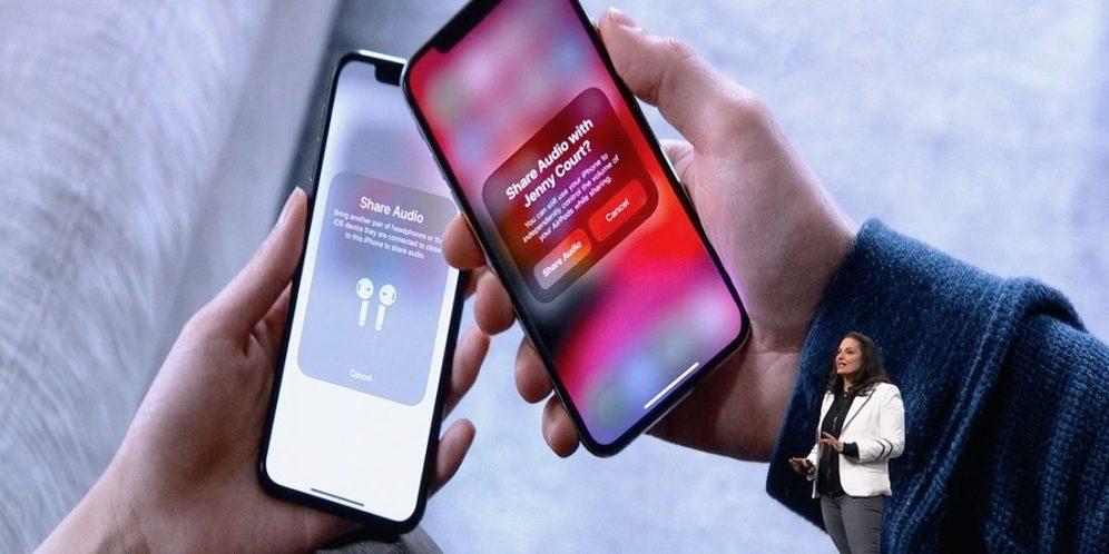 airpods sharing ios 13 WWDC 2019 : iOS 13 arrive avec le mode sombre, nouveau clavier et plus encore