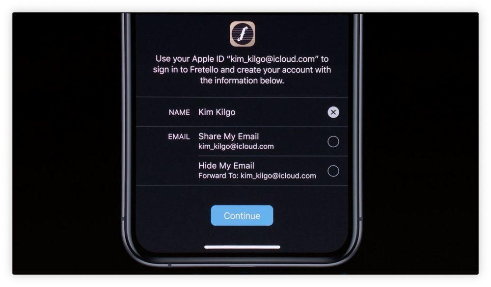 iOS 13 Apple ID 1000x585 WWDC 2019 : iOS 13 arrive avec le mode sombre, nouveau clavier et plus encore