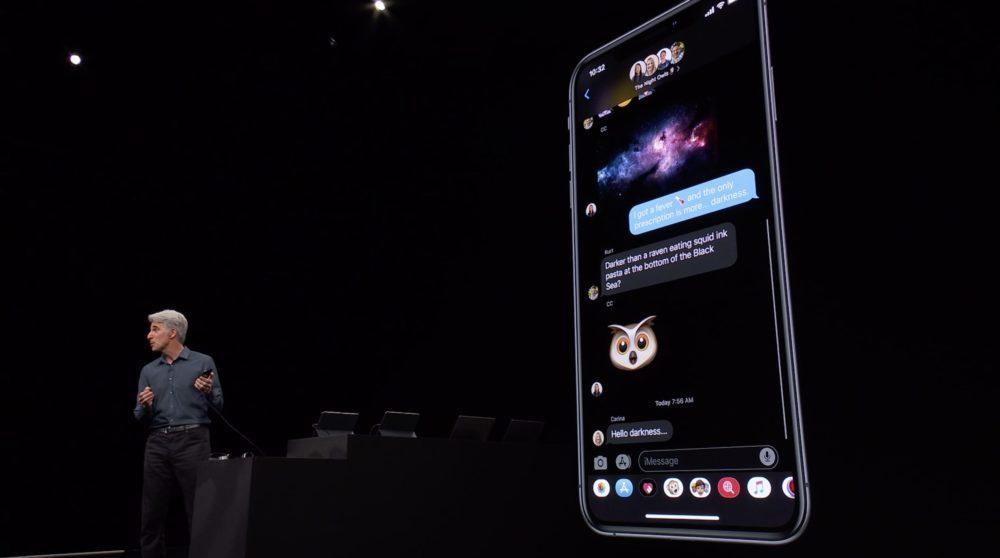 iOS 13 Messages 1000x558 WWDC 2019 : iOS 13 arrive avec le mode sombre, nouveau clavier et plus encore
