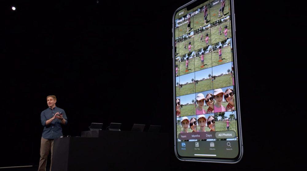 iOS 13 Photos 1 1000x558 WWDC 2019 : iOS 13 arrive avec le mode sombre, nouveau clavier et plus encore