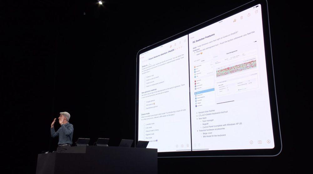iPadOS 13 WWDC Applications Double 1000x558 WWDC 2019 : voici les nouveautés diPadOS 13, le nouveau système dexploitation des iPad