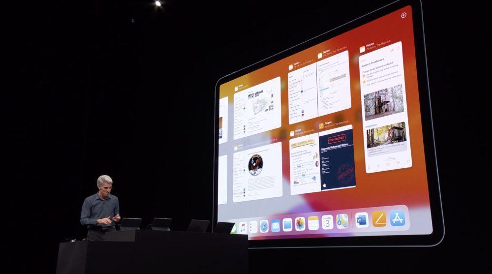 iPadOS 13 WWDC Plusieurs Apps 1000x557 WWDC 2019 : voici les nouveautés diPadOS 13, le nouveau système dexploitation des iPad