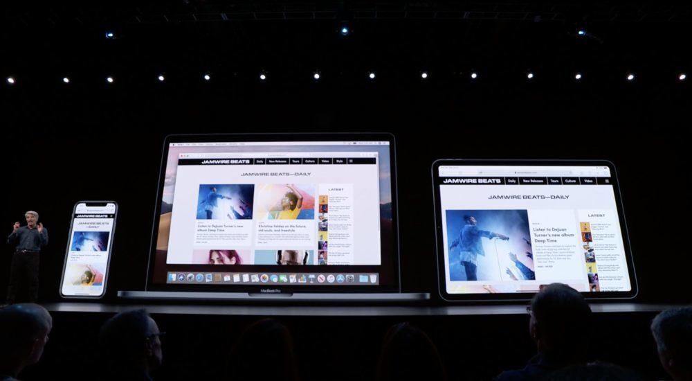 iPadOS 13 WWDC Safari Page Web 1000x550 WWDC 2019 : voici les nouveautés diPadOS 13, le nouveau système dexploitation des iPad