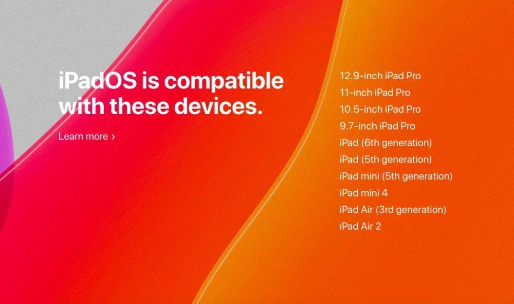 iPadOS 13 liste ipad compatibles 1000x591 Voici les iPad compatibles avec iPadOS 13