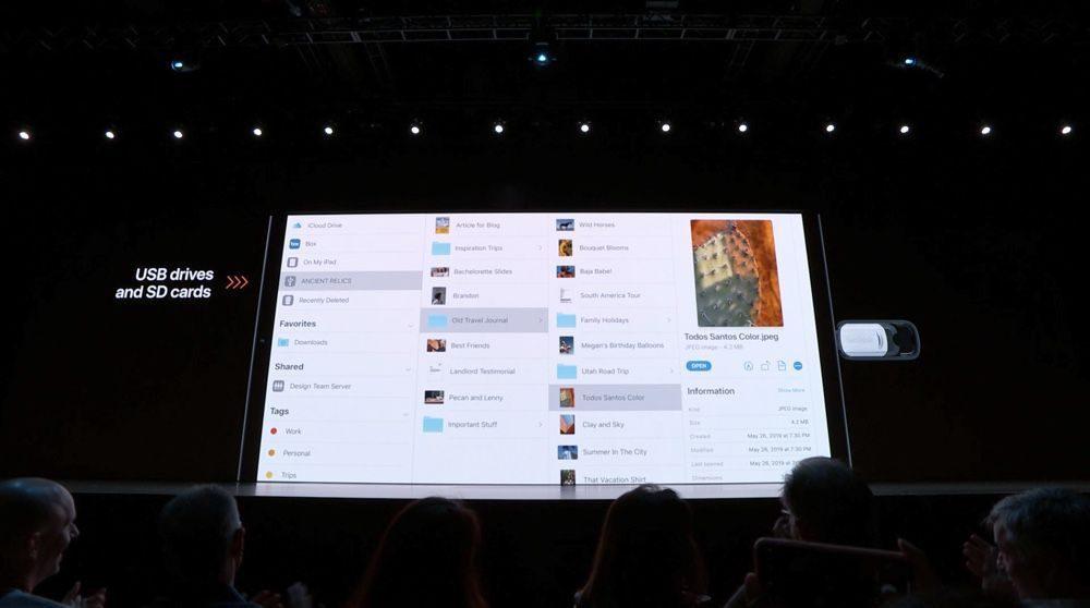 iPadOS 13 usb 1000x558 WWDC 2019 : voici les nouveautés diPadOS 13, le nouveau système dexploitation des iPad