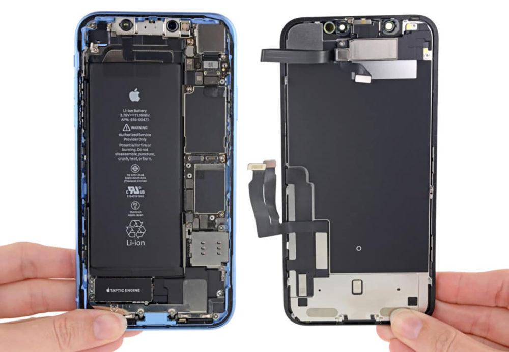 iPhone XR teardown 1000x693 LiPhone XR 2019 aurait une plus grosse batterie que celle de liPhone XR actuel