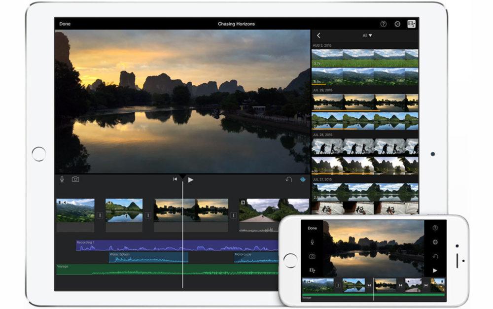 imovie iphone ipad 1000x627 iMovie sur iOS mise à jour : nouvel effet de fond vert, 80 nouvelles bandes son et plus encore