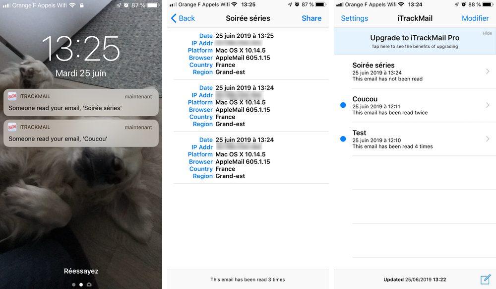 itrackmail iphone informations mail 1 Comment recevoir des accusés de réception de vos emails sur iPhone