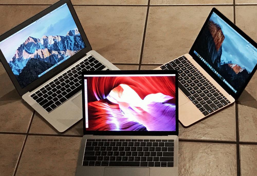 macbook macbook air macbook pro 1000x687 MacBook Pro et Air : clavier ciseaux au 2e trimestre et nouveau design en 2021