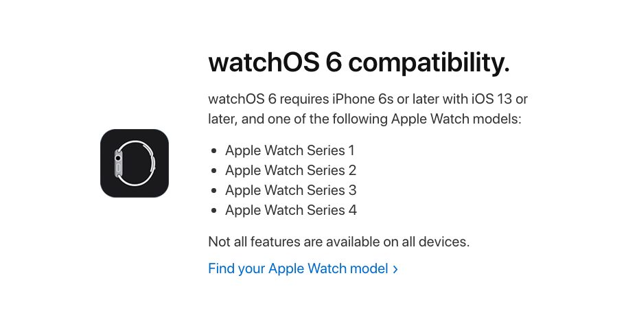 watchOS 6 Apple Watch Compatible Voici les Apple Watch qui sont compatibles avec watchOS 6