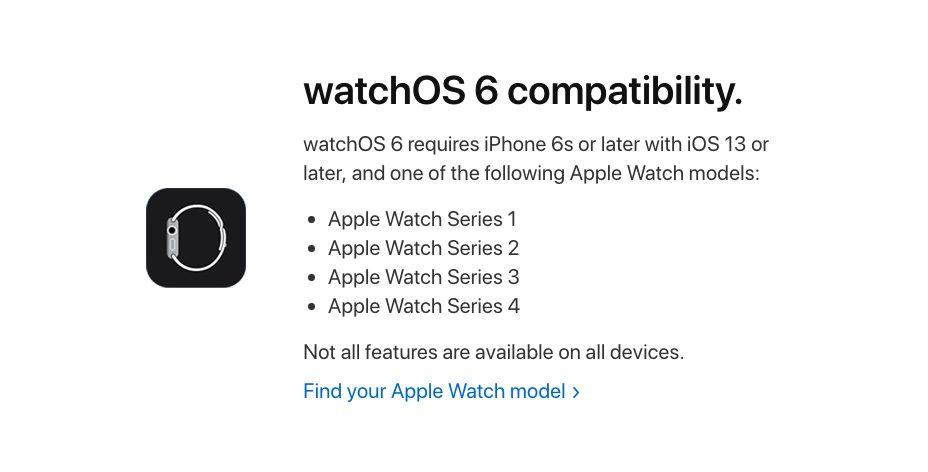 watchOS 6 Apple Watch Compatible Voici les Apple Watch qui sont compatibles avec watchOS 6
