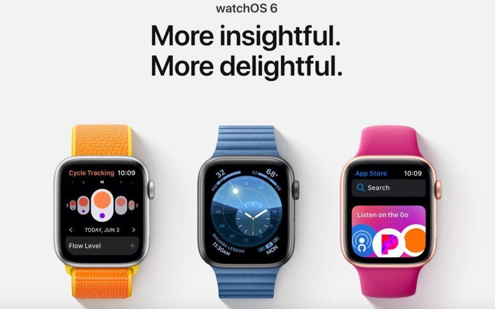watchOS 6 Apple Watch Series 4 1000x626 Voici les Apple Watch qui sont compatibles avec watchOS 6