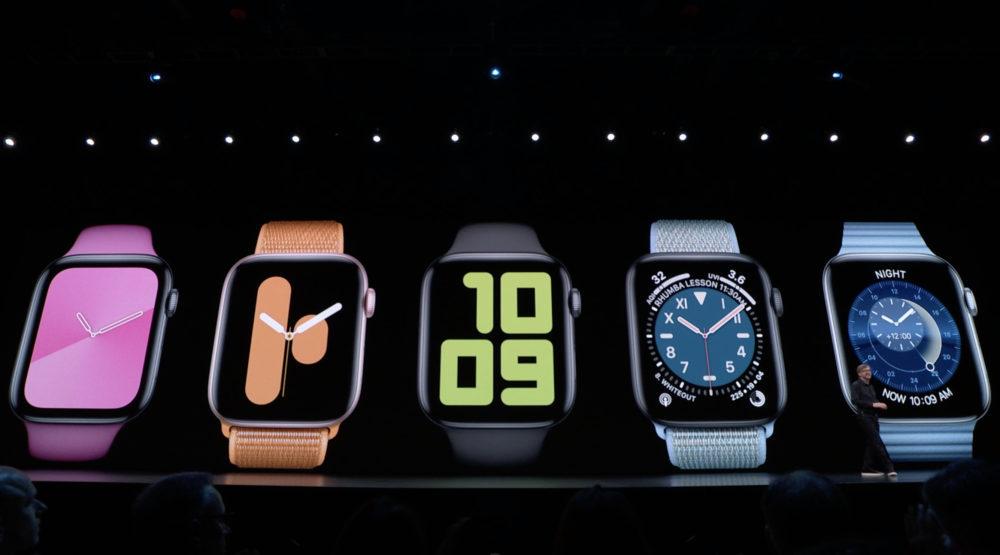 watchos 6 watch faces 1000x555 WWDC 2019 : watchOS 6 débarque avec un App Store dédié, de nouveaux cadrans et complications