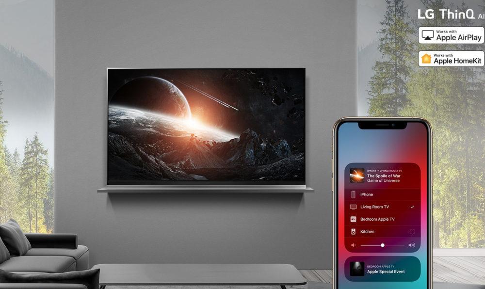 AirPlay2 on 2019 LG ThinQ AI TVs 1000x596 LG va proposer AirPlay 2 et HomeKit dApple sur ses TV à partir de demain (25 juillet)