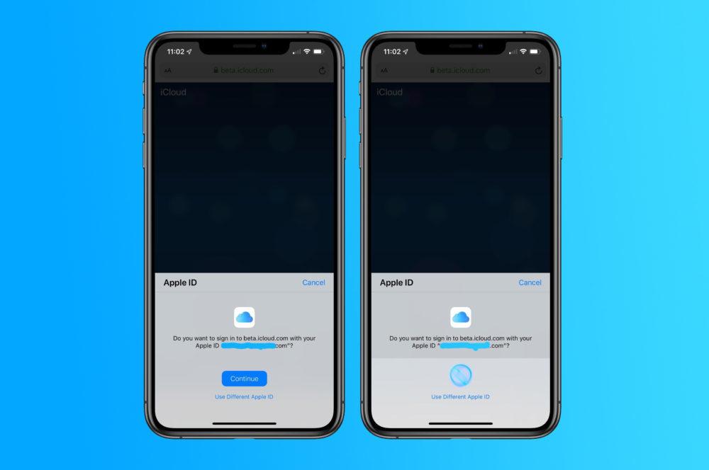 Connecter a iCloud Face ID Touch ID 1000x664 Apple teste la possibilité de se connecter à iCloud․com avec Touch ID et Face ID sur iOS 13 et macOS Catalina