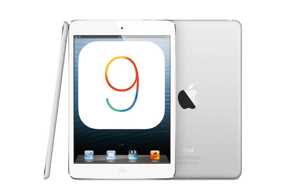 iOS 9 Apple iPad mini 1000x669 iOS 9.3.6 et iOS 10.3.4 disponibles sur les anciens iPhone et iPad et corrige un bug du GPS