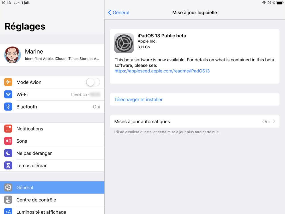 ipad maj beta ipados Comment effectuer une mise à jour de son iPhone et iPad