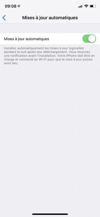 iphone activer maj auto Comment effectuer une mise à jour de son iPhone et iPad