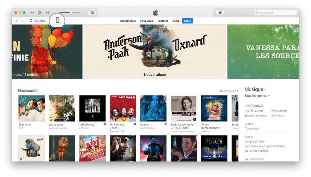 itunes choix iphone Comment effectuer une mise à jour de son iPhone et iPad