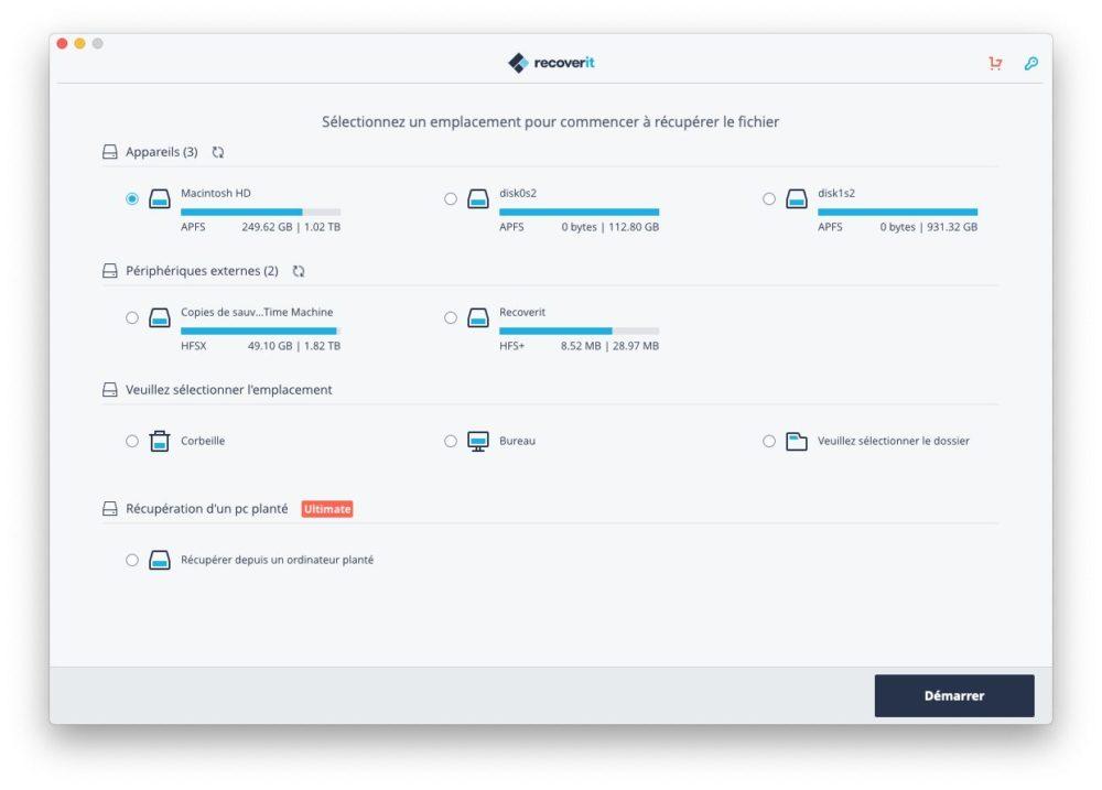 wondershare recoverit Récupérer des données supprimées avec Wondershare Recoverit