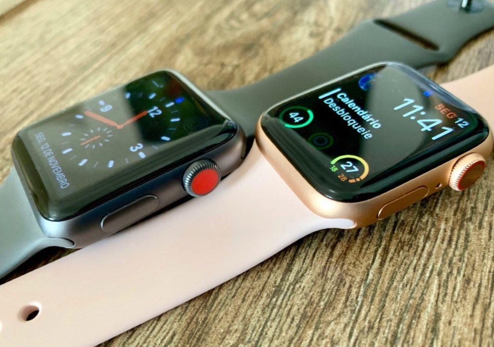 Apple Watch Series 3 et 4 1000x703 Apple Watch Series 5 : un écran OLED fourni par Japan Display ?
