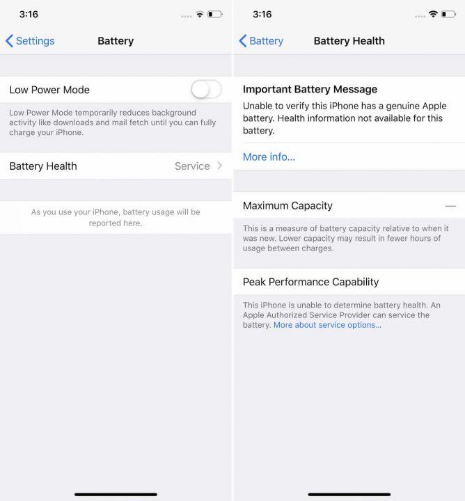 Batterie iPhone Message Erreur iPhone : Apple ne veut pas que les utilisateurs remplacent eux même la batterie