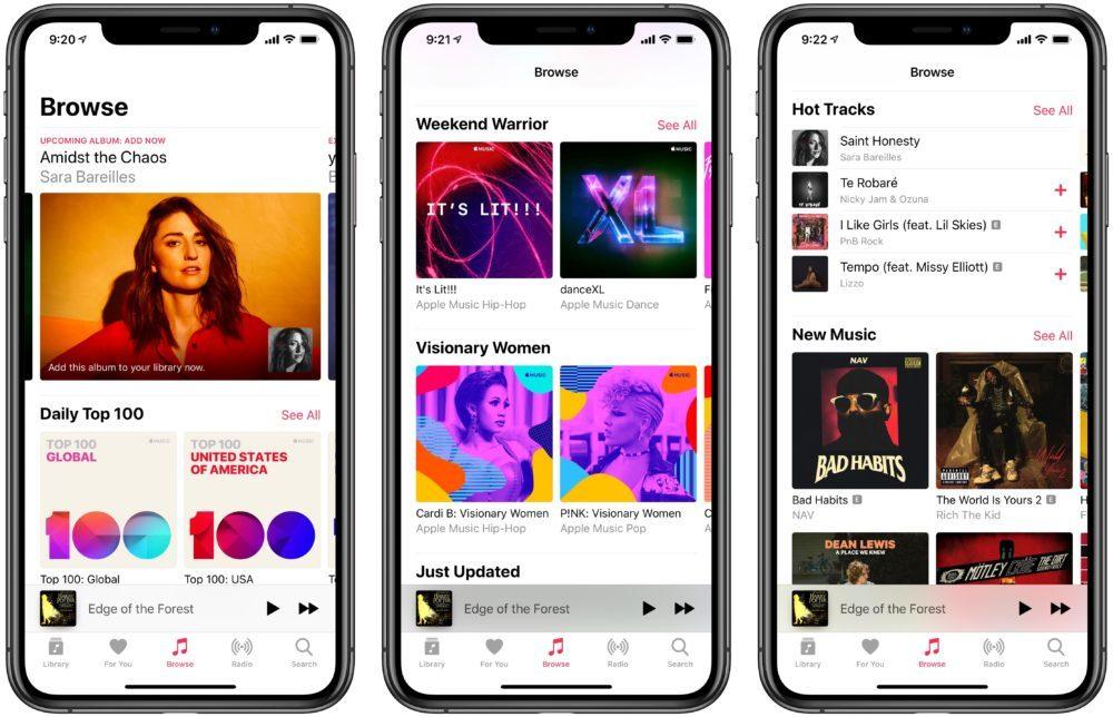 apple music iphone xs 1000x644 Apple Music : Apple lance une playlist qui regroupe de nouvelles chansons tous les jours