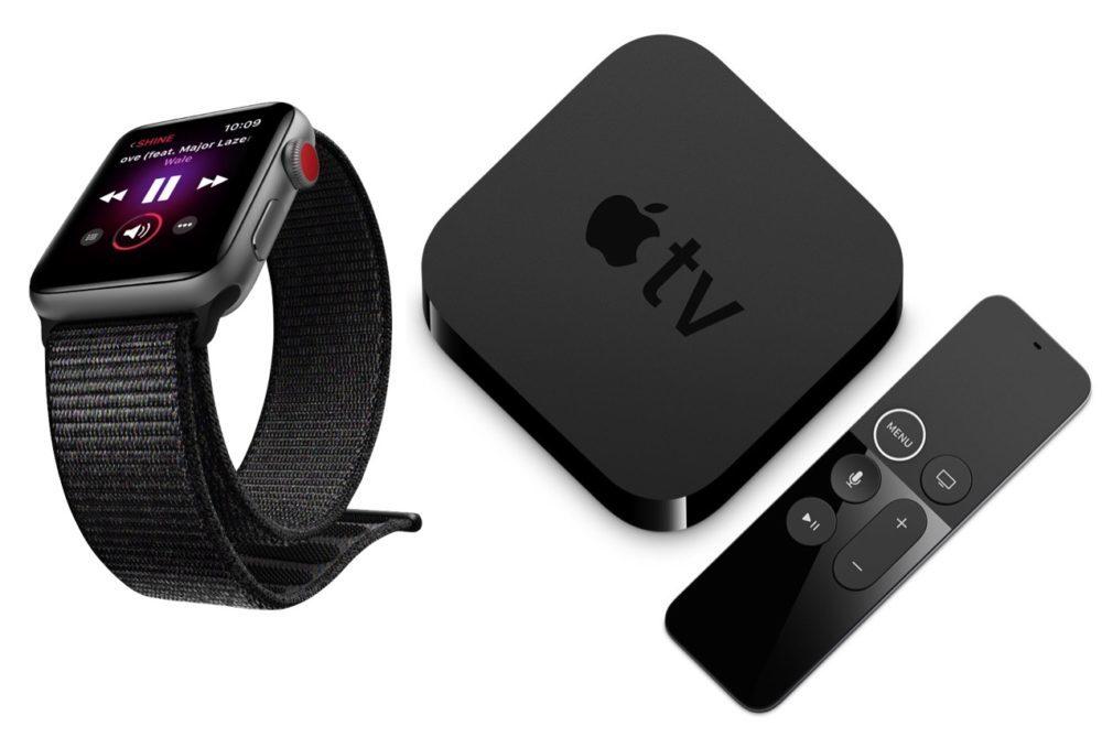apple watch apple tv 1000x669 Apple publie la version finale de watchOS 5.3.1 et de tvOS 12.4.1