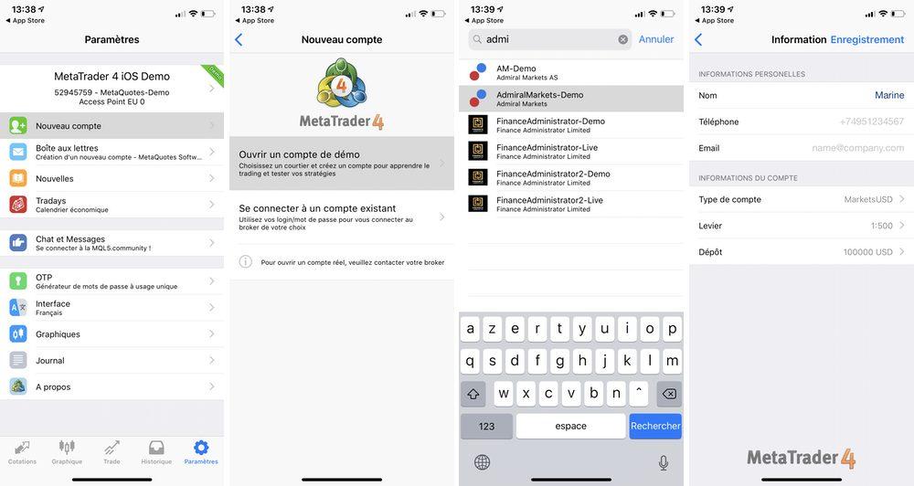 compte mt4 iphone La meilleure application trading pour iPhone   MetaTrader 4